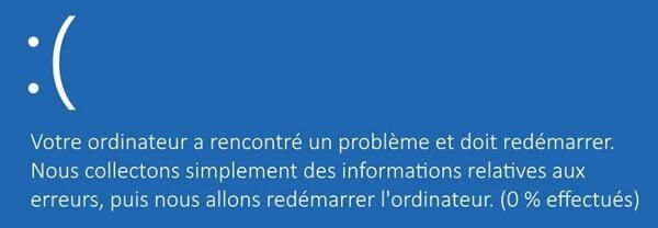 Erreur d'écran bleu sur Windows 8
