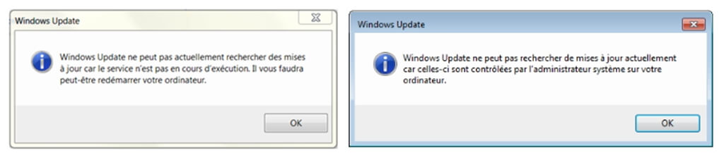 Les problèmes avec les mises à jour Windows