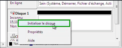 initialiser un disque sur Windows
