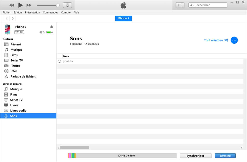 Gérer les musiques et les vidéos avec iTunes