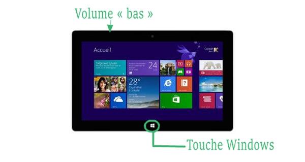 Faire une capture d'écran sur Surface Pro avec les raccourcis clavier