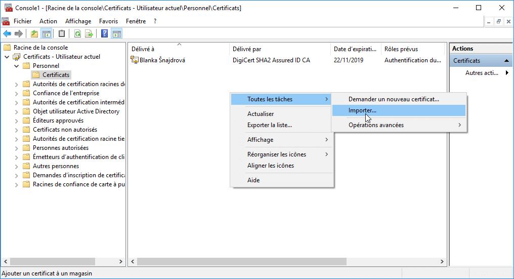 Décrypter un disque dur via certificat manager