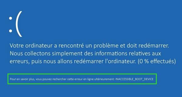 réparer erreur d'écran bleu sur Windows 8