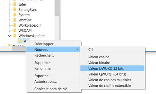 Valeur DWORD 32 bits