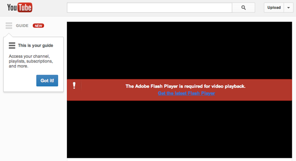 youtube adobe flash player